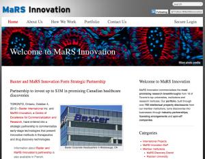 Refreshed MaRS Innovation website