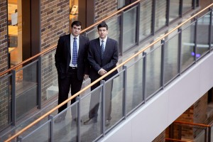 Hadi Aladdin (left) and Marwan Aladdin, U of T graduates and the founders of CoursePeer.