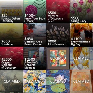 Artworks donated to the WaveCheck campaign by Canadian artists.