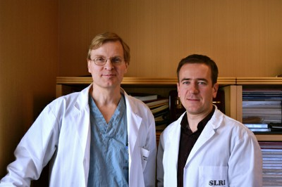 Dr. Keith Jarvi (left), Head of Urology and Director of the Murray Koffler Urologic Wellness Centre and Dr. Andrei Dabrovich, lead author of the paper.