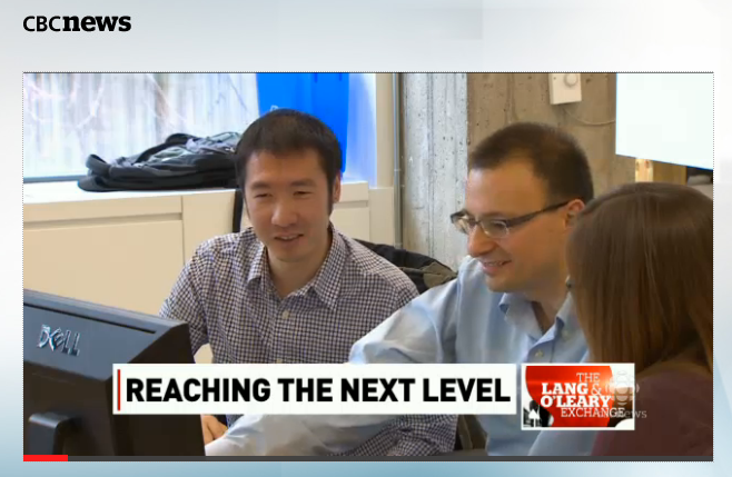 Granata founders Tyler Lu (left) and Craig Boutilier on the Lang & O'Leary Exchange