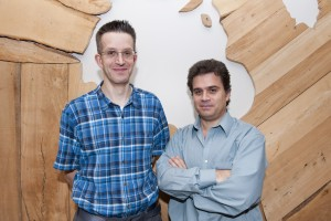 Dr. Gregory Czarnota of Sunnybrook Health Sciences (left) and Professor Michael Kolios of Ryerson University, WaveCheck's inventors.