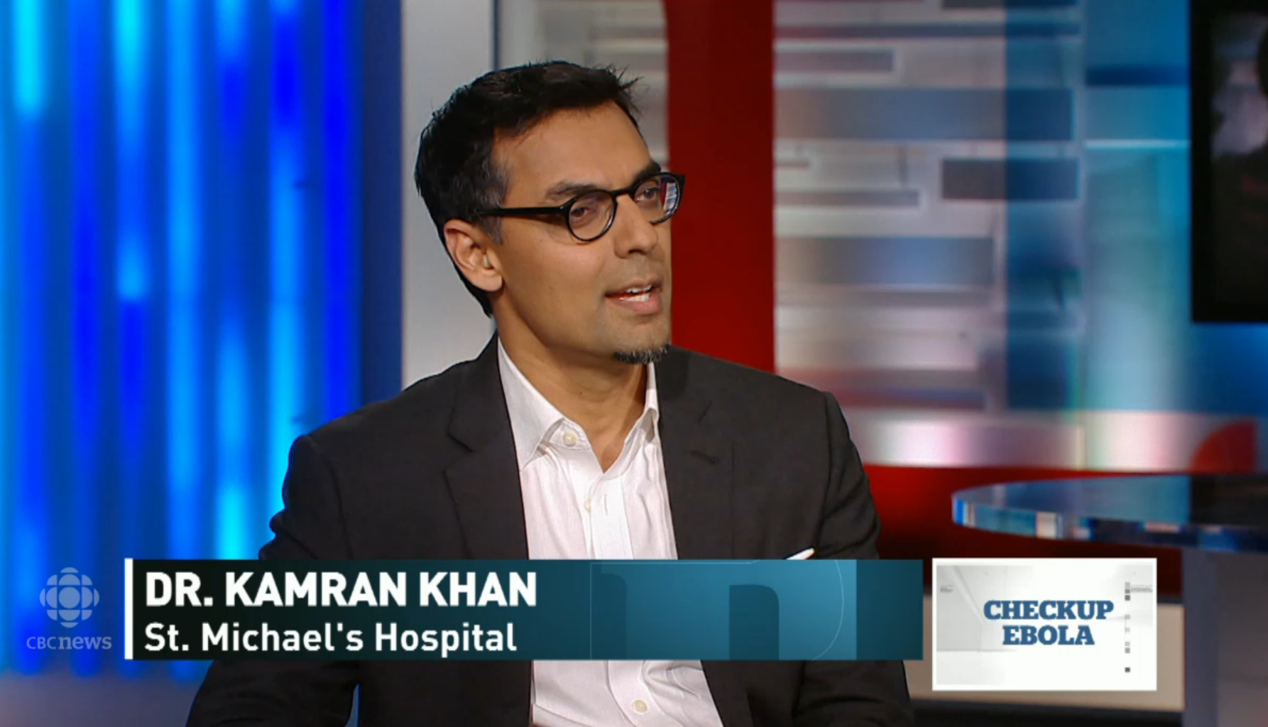 """Dr. Kamran Khan, an infectious disease clinician-scientist at St. Michael's Hospital and founder of BioDiaspora, on CBC's """"The National."""""""
