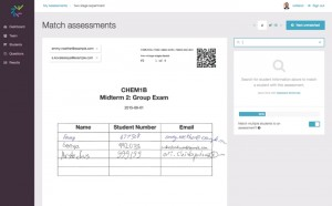 Crowdmark's two-stage exam interface.