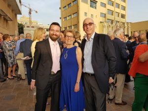 Dr. Rafi Hofstein, president and CEO of MaRS Innovation (right) attends a reception in Israel with Ontario Premier Kathleen Wynne and Dr. Jason Field, president and CEO of Life Sciences Ontario.