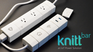 KnittBar is a Wi-Fi enabled smart modular power bar with components like building blocks for versatility and sustainability.